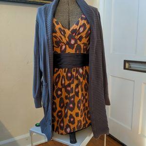 Jessica simpson silk leopard print dress